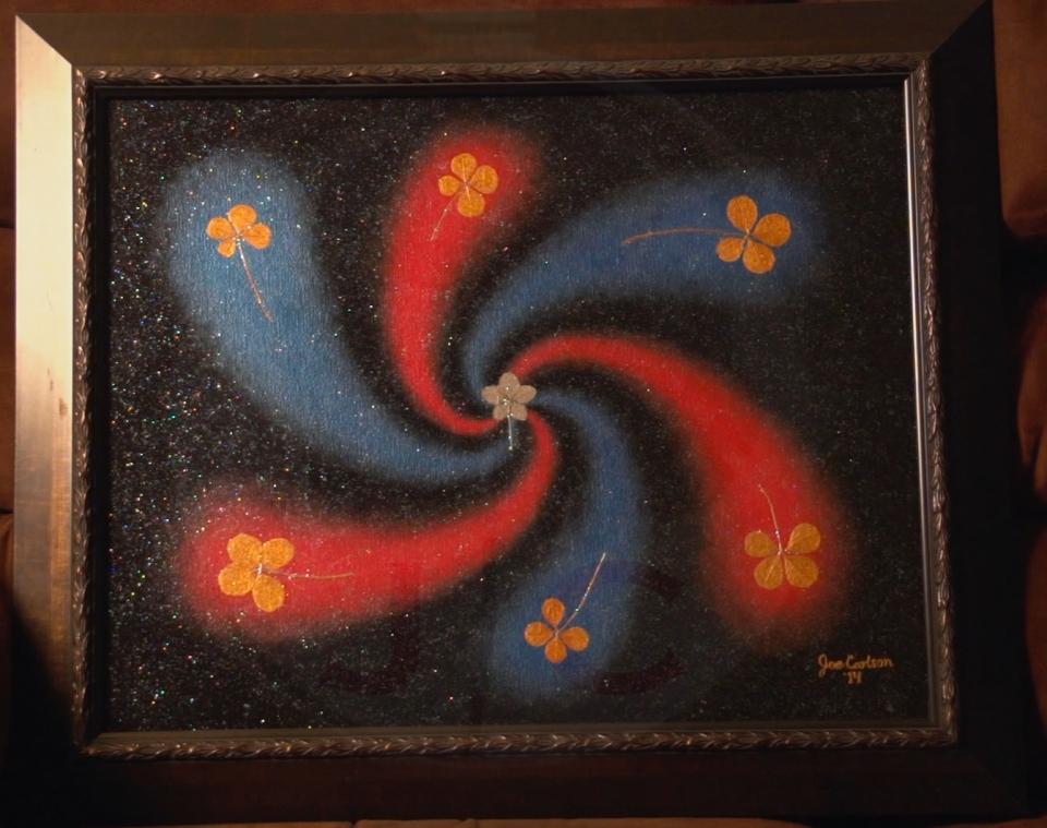 Lucky Swirl (metallic)_16X20 or 20X24 w:frame_$500