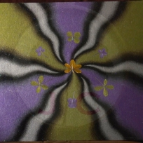 Purple and Peridot (metallic)_16X20 or 19X23 w:frame_$500