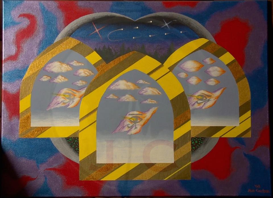 Visions (metallic)_16X20 w:o frame_$100